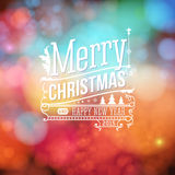 Christmas greeting card. Merry Christmas lettering. Stock Images