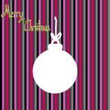Christmas Greeting Card, Merry Christmas, Silhouette Christmas ball, Christmas symbol Royalty Free Stock Photo