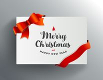 Christmas greeting card with Merry Christmas wishes   Royalty Free Stock Image