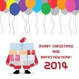 Christmas greeting card34. Card for Merry Christmas and Happy New Year Stock Photo