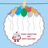 Christmas greeting card32. Card for Merry Christmas and Happy New Year Stock Image