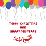 Christmas greeting card33. Card for Merry Christmas and Happy New Year Stock Image