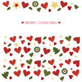 Christmas greeting card. Merry Christmas and Happy New Year greeting card Stock Images