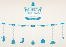 Christmas greeting card with merry christmas and happy new year wishes.. Christmas greeting card with merry christmas and happy new year wishes. Christmas Royalty Free Stock Image