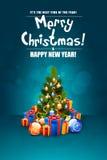 Christmas Greeting Card. Stock Photos