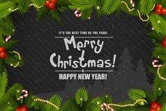 Christmas Greeting Card. Royalty Free Stock Photo