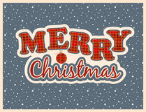Christmas greeting card. Merry christmas vintage greeting card Royalty Free Stock Images