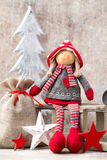 Christmas greeting card. Noel gnome background. Christmas symbol Royalty Free Stock Photography
