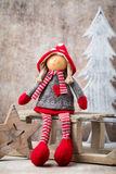 Christmas greeting card. Noel gnome background. Christmas symbol Royalty Free Stock Images