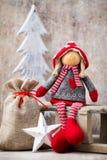 Christmas greeting card. Noel gnome background. Christmas symbol Royalty Free Stock Photos