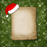 Christmas greeting card with old paper Royalty Free Stock Photo