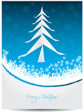 Christmas greeting card with origami tree Royalty Free Stock Photo