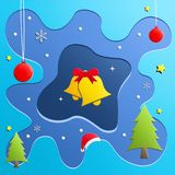 Christmas greeting card with colorful background stock illustration