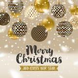 Christmas greeting illustration Stock Photos