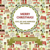 Christmas Greeting Card or party invitation template Stock Photography