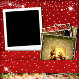 Christmas greeting card picture frame Stock Photo