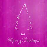 Christmas greeting card with pink background Stock Image