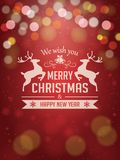 Christmas Background with Typography. Christmas greeting card and poster design Stock Photos