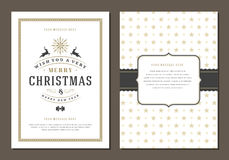 Christmas Greeting Card or Poster Design Template. stock illustration