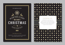 Christmas Greeting Card or Poster Design Template. Royalty Free Stock Image