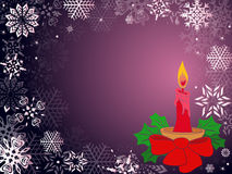 Christmas greeting card in purple hues Royalty Free Stock Photo