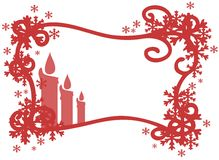 Christmas greeting card in red isolated Stock Image