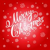 Christmas greeting card on a red background. Stock Photography