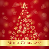 Christmas greeting card with red background and go Stock Photo