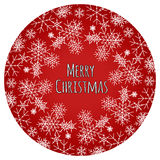 Christmas greeting card with red background. Royalty Free Stock Images