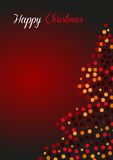 Christmas greeting card in red. 2d design of Christmas greeting card in red Stock Photo
