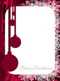 Christmas greeting card in red with decorations Stock Image