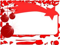 Christmas greeting card in red with star Stock Images