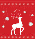 Christmas greeting card on red Royalty Free Stock Image