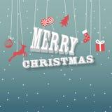 Christmas greeting card. Retro background Royalty Free Stock Image