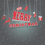 Christmas greeting card. Christmas retro greeting card, retro background Royalty Free Stock Images