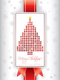 Christmas greeting card with ribbon Royalty Free Stock Image
