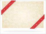 Christmas  greeting card with  ribbons Royalty Free Stock Photography