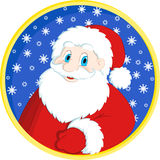 Christmas greeting card with Santa Claus Stock Image