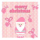 Christmas Greeting Card with Santa Claus Royalty Free Stock Photography
