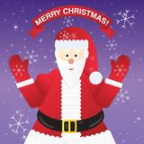 Christmas Greeting Card with Santa Claus. Royalty Free Stock Photo