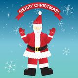 Christmas Greeting Card with Santa Claus. Royalty Free Stock Photos