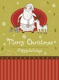 Christmas greeting card Stock Photography