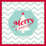 Christmas greeting card in shabby chic style Stock Images