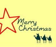 Christmas greeting card royalty free illustration