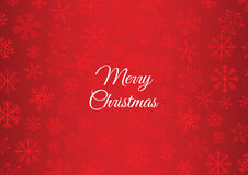 Christmas greeting card. Simple Christmas greeting card with snowflakes, over red background Stock Photo
