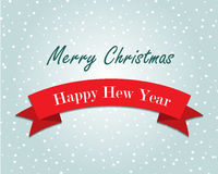 Christmas greeting card. With snow Royalty Free Stock Image