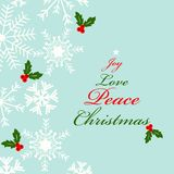 Christmas greeting card with joy Stock Images