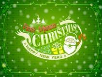 Christmas greeting card with snowfall effect Stock Photo