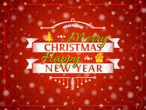 Christmas greeting card with snowfall effect Royalty Free Stock Photo