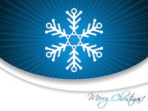 Christmas greeting card with snowflake Stock Photo